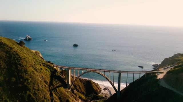 Bixby Bridge Aerial in Big Sur California