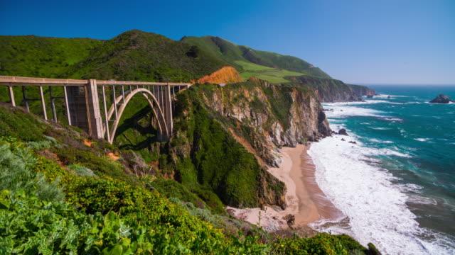 Bixby Bridge at Big Sur Coastline, California, USA