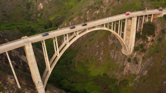 bixby bridge - bixby creek bridge stock videos & royalty-free footage