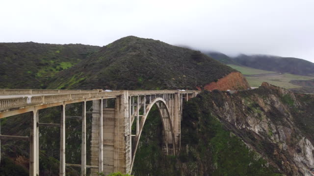 bixby creek bridge and california west coast. - carmel california stock videos and b-roll footage