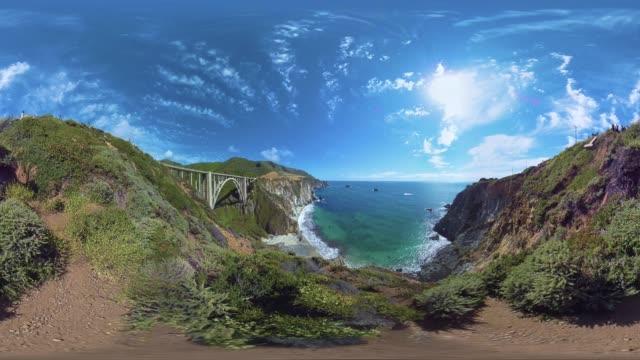 bixby creek bridge in california us - bixby creek bridge stock videos & royalty-free footage