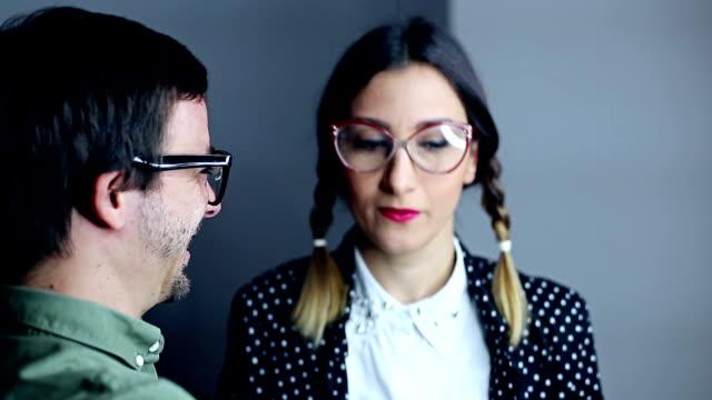bizzare geek couple dancing - romantic activity stock videos & royalty-free footage