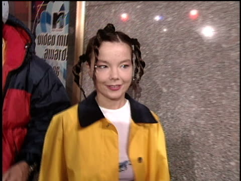 bjork arriving at the 1996 video music awards. - 1996 stock videos & royalty-free footage