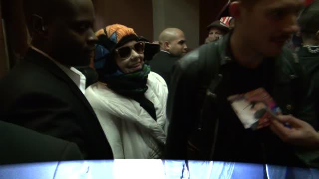 Bjork leaving The Colbert Report 02/01/12 in Celebrity Sightings in New York