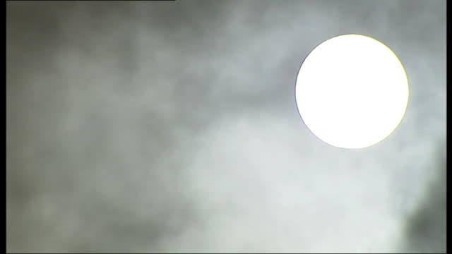 Bjork 'Oh So Quiet'** Sun partly obscured by clouds Clouds in blue sky no aircraft