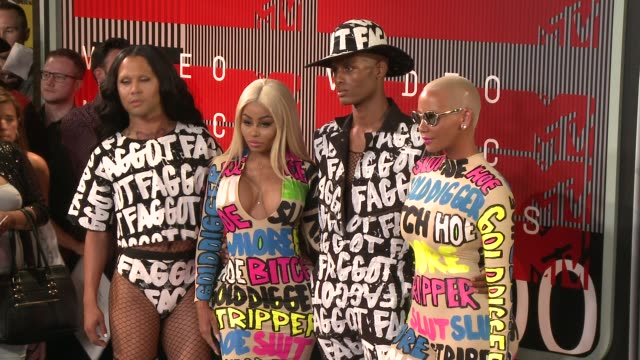 vídeos de stock e filmes b-roll de blac chyna and amber rose at the 2015 mtv video music awards at microsoft theater on august 30, 2015 in los angeles, california. - microsoft theater los angeles