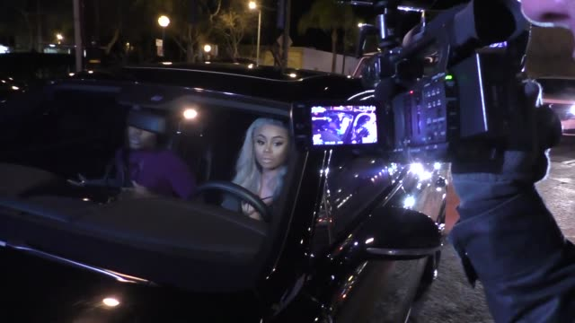 blac chyna arrives to ace of diamonds in west hollywood in celebrity sightings in los angeles - ace stock videos and b-roll footage
