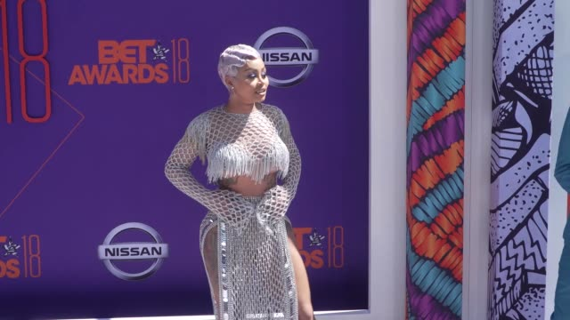 blac chyna at the 2018 bet awards at microsoft theater on june 24, 2018 in los angeles, california. - bet awards bildbanksvideor och videomaterial från bakom kulisserna