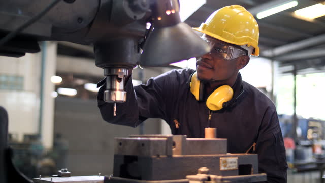 black african people working at heavy industry - man and machine stock videos & royalty-free footage