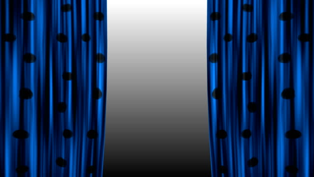 black and blue Curtains Open In 4K Resolution