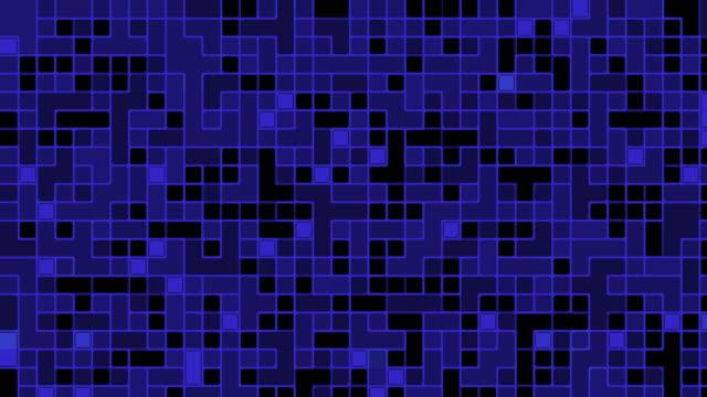 黒と青のデジタル ノイズ信号 - ます目点の映像素材/bロール