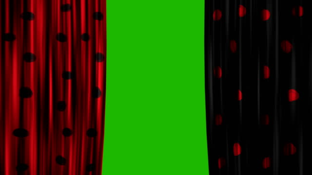 Black and Red Curtains Opening 4K Resolution