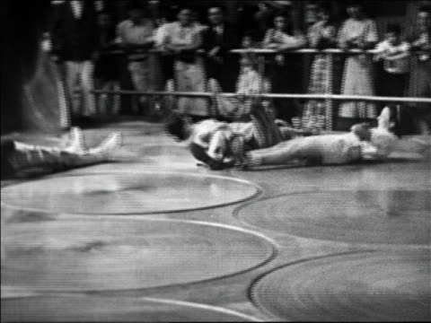 black and white 1940 people spinning on human pool table ride at coney island, ny / industrial /audio - pool table stock videos & royalty-free footage