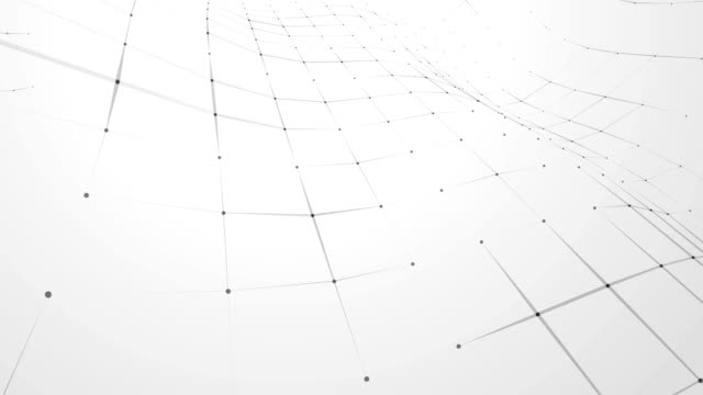 black and white abstract connections background - grid pattern stock videos and b-roll footage