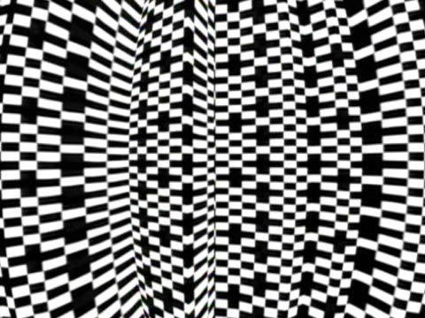 CGI Black and white abstract pattern