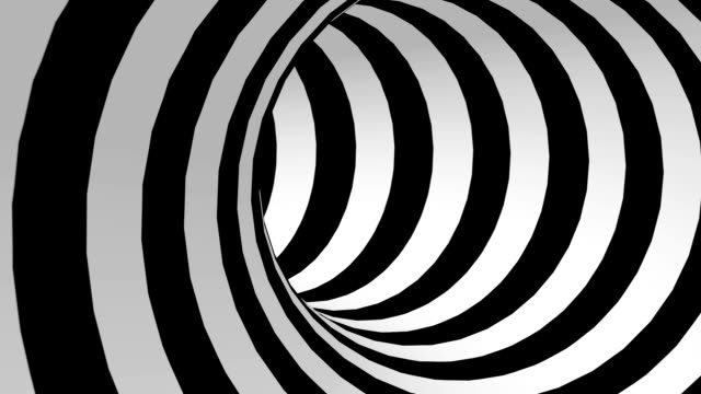 black and white abstract tunnel loop - spiral stock videos & royalty-free footage