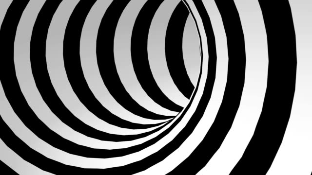 black and white abstract tunnel loop - infinity stock videos & royalty-free footage