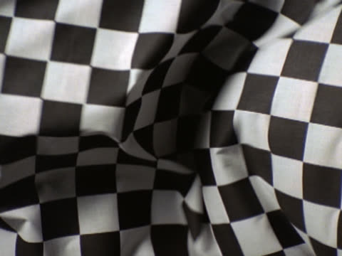 black and white checkered fabric waving - checked pattern stock videos & royalty-free footage