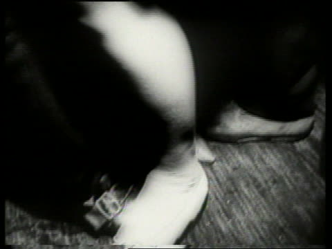 black and white close up of women's feet dancing on top of men's / audio - beatnik stock videos & royalty-free footage