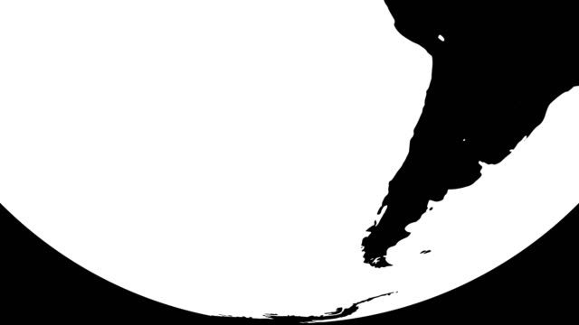 vídeos de stock e filmes b-roll de black and white earth globes - design plano