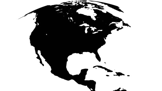 black and white earth globes - north america stock videos & royalty-free footage