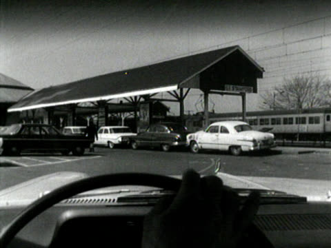 black and white, entering commuter train station - 1965 stock videos & royalty-free footage