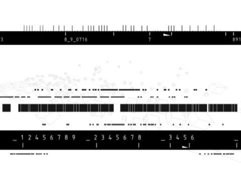 vídeos de stock e filmes b-roll de black and white frequency patterns - multimédia