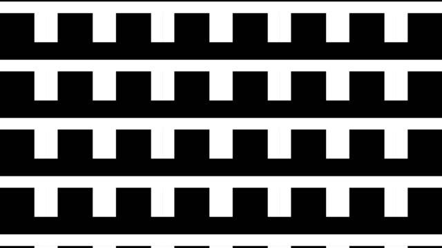 黒と白の幾何学的形状, パターンモーション - 投影図点の映像素材/bロール