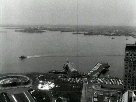 Schwarze und weiße, hohe Winkel von lower Manhattan