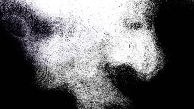 black and white high contrasted blizzard grungy and dirty, animated, distressed and smudged stormy sky, clouds 4k video background with swirls and frame by frame motion feel with van gogh style - smudged stock videos & royalty-free footage