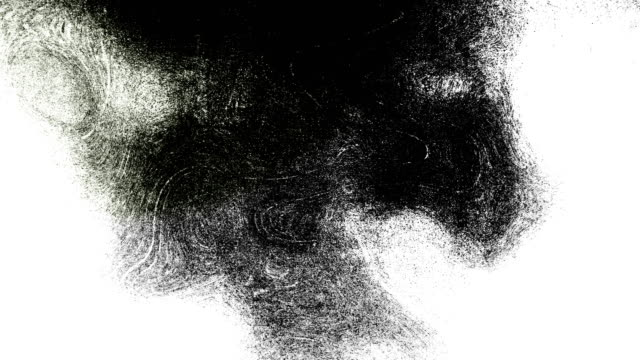 black and white high contrasted blizzard grungy and dirty, animated, distressed and smudged stormy sky, clouds 4k video background with swirls and frame by frame motion feel with van gogh style - scribble stock videos & royalty-free footage