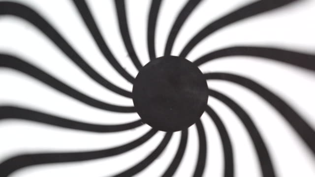 Black and white hypnotic concentric circle tunnel
