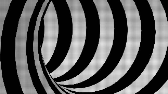 vídeos de stock e filmes b-roll de black and white led screen abstract tunnel loop - movimento perpétuo