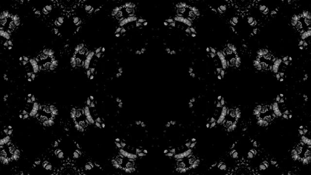 Black and white mandala motion graphic loop