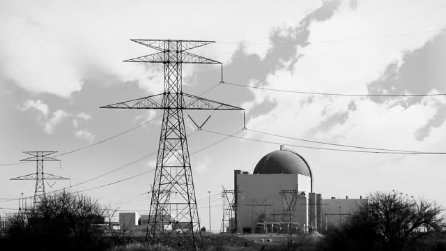 Black and White Nuclear Power Plant