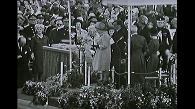 black and white queen elizabeth ii opens the severn bridge in monmouthshire, wales, 1966 - 1966 stock videos & royalty-free footage