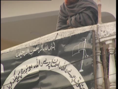 black and white sign in swat, pakistan. - pakistan video stock e b–roll