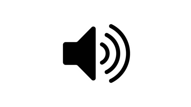 vídeos de stock e filmes b-roll de black and white sound icon audio music speaker animation - símbolo