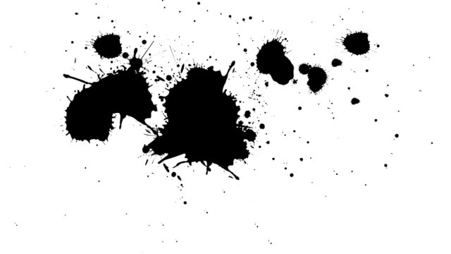 black and white splatter - splashing stock videos & royalty-free footage