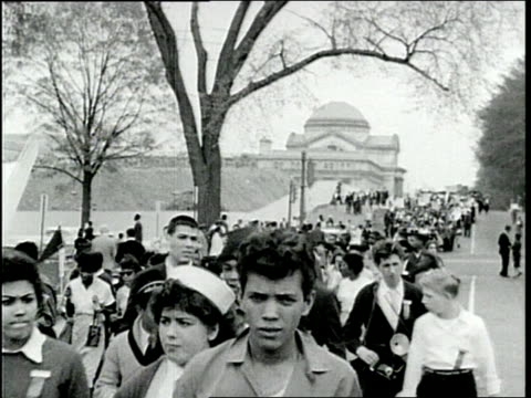 black and whites marching during civil rights - equality stock videos & royalty-free footage