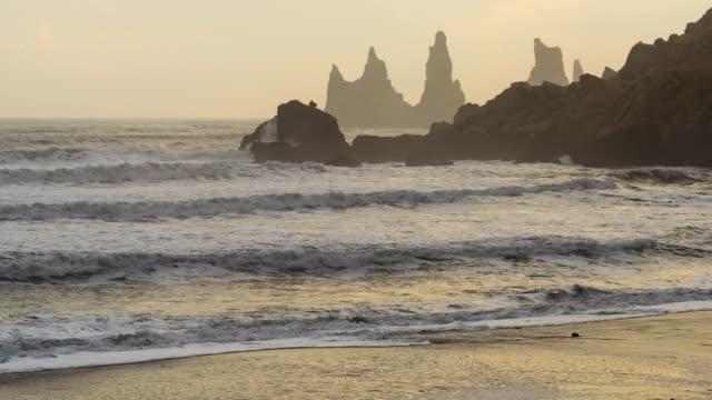 black beach - igneous stock videos & royalty-free footage