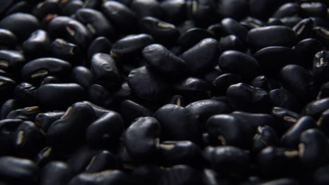 black beans heap rotating with close up shot - bean stock videos & royalty-free footage