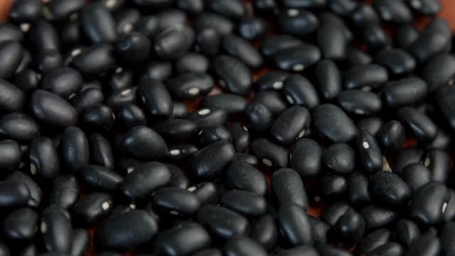 black beans rotating - bean stock videos & royalty-free footage
