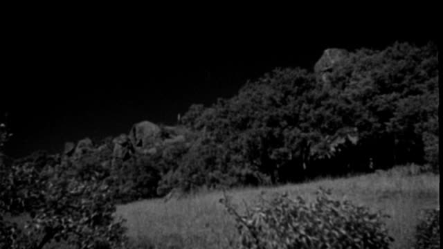 a black buick stops on a hillside and two men climb out. - 1939 stock videos & royalty-free footage