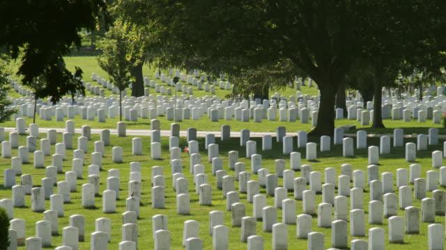 MS PAN Black car crossing Arlington National Cemetery, McClellan Drive, Arlington, Virginia, USA