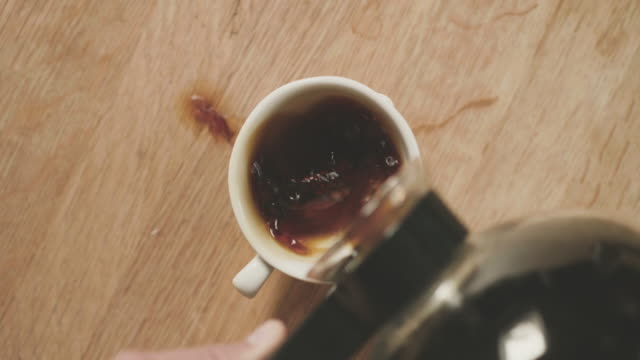 black coffee for breakfast - coffee cup stock videos & royalty-free footage