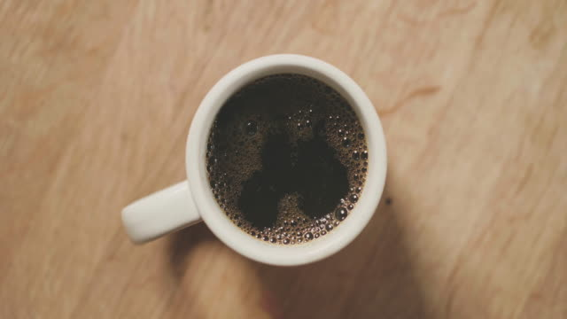 black coffee for breakfast - cup stock videos & royalty-free footage