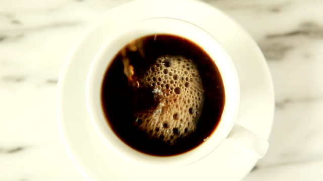 black coffee pour - coffee cup stock videos & royalty-free footage