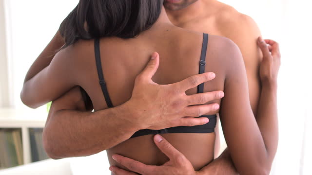 black couple in love - underwear stock videos & royalty-free footage