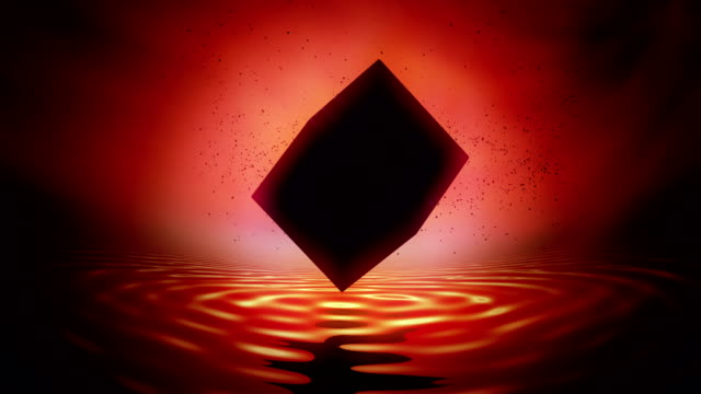 black cube of saturn, saturn worship. - cube stock videos and b-roll footage